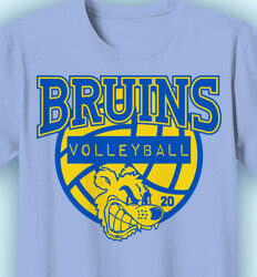 Volleyball Team Shirts - Mascot Volleyball Camp - idea-203m1