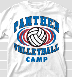 Volleyball Camp Shirt Design - Volley Intensity desn-695v1
