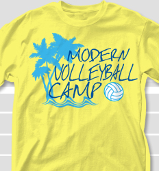 Volleyball Camp Shirt Design - Volleyball Isla desn-694v1