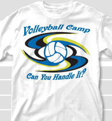 Volleyball Camp Shirt Design - Whirley clas-85w9