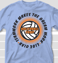 Volleyball Camp Shirt Design - Extruded clas-692f5