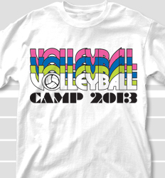 Volleyball Camp Shirt Designs - Nassau clas-792p8