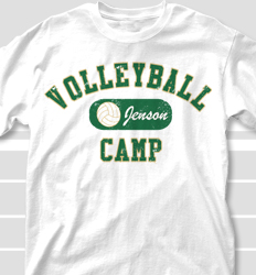 Volleyball Camp Shirt Design - Volleyball Club desn-696v1