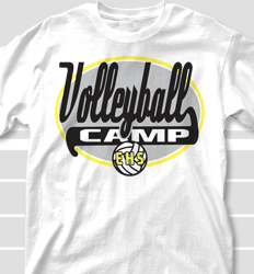 Volleyball Camp Shirt Design - Speedway desn-495s6