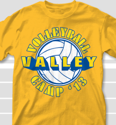 Volleyball Camp Shirt Designs - Volley Stencil desn-693v1