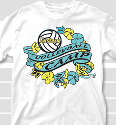 Volleyball Camp Shirt Designs - Maui Floral clas-512m5