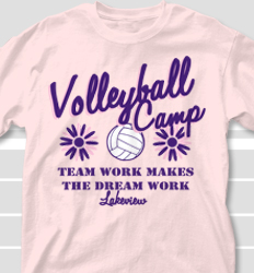 Volleyball Camp Shirt Designs - Groovy Camp desn-700g1