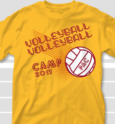Volleyball Camp Shirt Design - Billboard desn-463b4