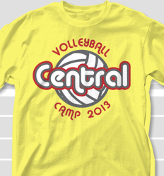 Volleyball Camp Shirt Design - United Globe clas-665u8