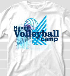Volleyball Camp Shirt Design - Famous Letters desn-9g8
