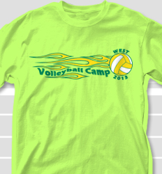 Volleyball Camp Shirt Design - Fireband clas-21g4