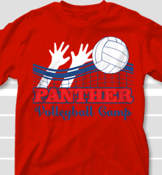 Volleyball Camp Shirt Design - Volley Blockers desn-697v1