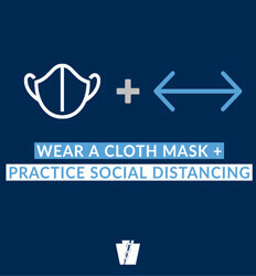 Pennyslvania Department of Health - Social Distancing - Promotes Face Masks