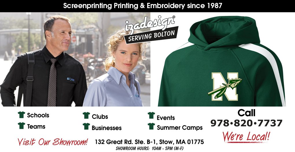 IZA Design Screen Printing and Embroidery in Bolton, MA