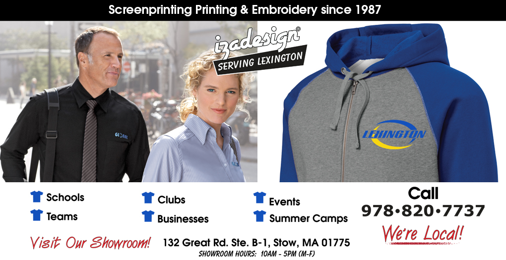 IZA Design Screen Printing and Embroidery in Lexington, MA