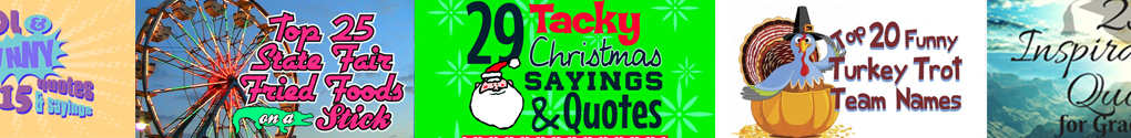 Tacky Quotes for your Holiday Shirts