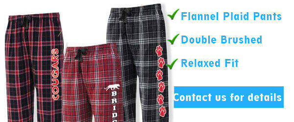 Pennant flannel plaid pants